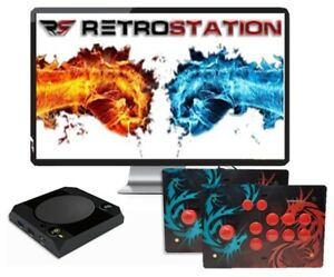 Retrostick arcade joystick by retrostation v1   full acrylic   android ps3 ps4 pc