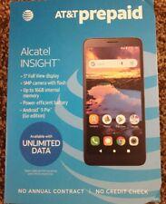 "New AT&T Prepaid - Alcatel INSIGHT 5005r - Black - 5"" 5MP 16GB Android 9 Phone"