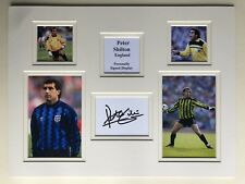 "England Football Peter Shilton Signed 16"" X 12"" Double Mounted Display"