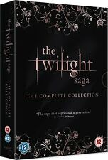 TWILIGHT SAGA COMPLETE COLLECTION 5 MOVIES DVD 5 DISCS 1-5 R2 BREAKING DAWN