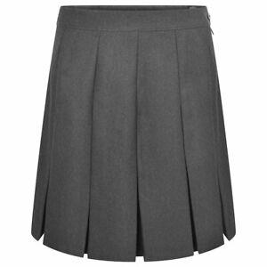 Zeco School Uniform Girls Stitched Down Box Pleat Skirt
