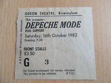 DEPECHE MODE 16.10.1982 TICKET BIRMINGHAM , ODEON THEATRE