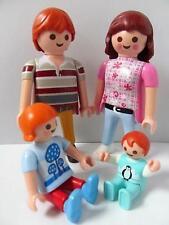 Playmobil Dollshouse red-haired family figures: Mum, dad, girl & baby NEW