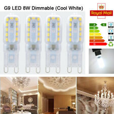 4 pcs G9 8W LED Dimmable Capsule Bulb Replace Light Lamps AC220-240V Cool White