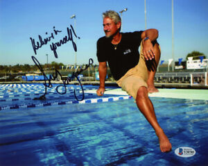 GREG LOUGANIS SIGNED AUTOGRAPHED 8x10 PHOTO OLYMPIC DIVING LEGEND BECKETT BAS