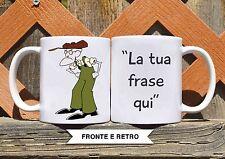 Tazza ceramica LEONE CANE FIFONE GIUSTINO 6 FRASE PERSONALIZZATA  ceramic mug