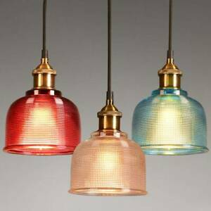 Modern Vintage Industrial Retro Loft Glass Ceiling Wall Lamp Shade Pendant Light