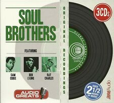 SOUL BROTHERS - 3 CD BOX SET - SAM COOKE * BEN E KING & RAY CHARLES