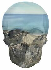 Gothic Skull Double Exposure Exotic Ocean Beach View Wall Sticker Decal 531