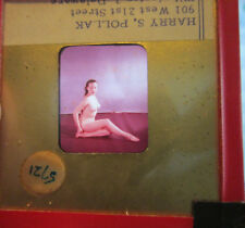 Nude Color Glass Slide 1957 pinup girl risque Playboy Photographer 2