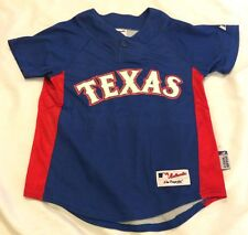 Texas Rangers Mitch Moreland #18 S Jersey MLB Authentic Majestic Athletic EUC