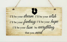 """Hand Made Plaque """" Truly Madly Deeply """" Love Hope Wish Lovers Gift Sign Lovers"""