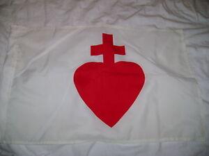 DRAPEAU   FRANCAIS Sacré coeur de Jésus CHOUANS FLAG BANDIERA vendée vendéen roy
