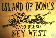 XXL Island bones T-shirt Cayo Hueso Key West, Havana Parrot shirt islands beach