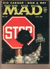 MAD   #47  1959  GAINES / FELDSTEIN--NEUMAN-SID CAESAR-CARTOON HUMOR-..VG/VG-