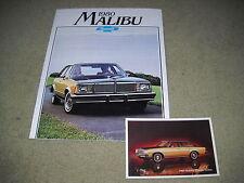 1980 CHEVROLET MALIBU BROCHURE / CATALOG plus ORIGINAL 80 CHEVY POSTCARD 2 for 1