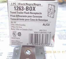 Cooper 1263-BOX Flush Receptacle 30A-125V 2-Pole 3-Wire Grounding