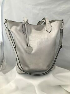 Marco Tozzi Silver Handbag Shoulder Bag Tote Shopper