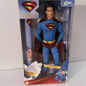 Superman Returns Toy Ken Barbie Doll Poster Included Man of Steel 2005 Mattel