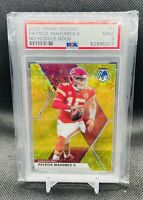 2020 Mosaic No Huddle Patrick Mahomes II GOLD Disco SSP #9/10 Chiefs PSA 9 POP 1