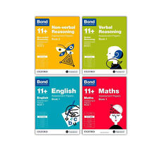 Bond 11+ 10-11 Year  Assessment Papers English Maths Verbal Reason  4 Book Set