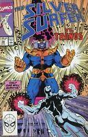 Silver Surfer, #38, FN 6.0, Thanos, Infinity Gauntlet/Infinity War/Endgame