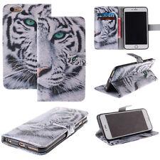 Wallet Leather Tiger Flip Stand Case Cover For Samsung S7 S7 Edge LG K10 V10 K7