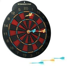 "16"" Dart Board With 6 Rubber Tipped Safety Guard Darts - Age 6+ (ES90)"