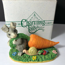 Charming Tails Figurine original box mouse rabbit Limited Tuggin twosome carrot