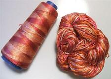100% Pure Reeled Mulberry Finest Silk Filature Yarn RSVY06 Vintage Citrus Lot A