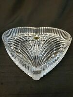 "LOVELY WATERFORD CRYSTAL 7.5"" HEART SHAPE DISH VANITY TRAY"