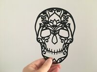 Floral Sugar Skull Wall Art Decor Hanging Decoration Day of the Dead Halloween