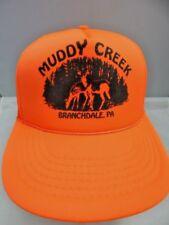Nos Vintage Madhatter Muddy Creek Gun Club Buck Hunting Sport Hat Cap Snap Back