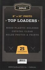 25 8x10 Ultra Premium Cbg Pro Topload Toploaders Hard Rigid Photo Holders