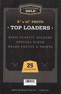 25 8x10 Ultra Premium CBG Pro Topload Toploaders Hard Rigid Photo Holders