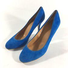 "J Crew Womens Size 10 Paulina Suede Blue Pumps 3.75"" Heels 95994"
