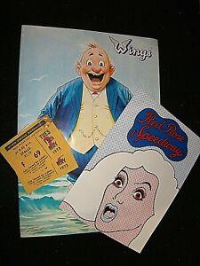 PAUL McCARTNEY & WINGS 1973 CONCERT TOUR PROGRAMME, TICKETS & DISC ADVERT FLYER