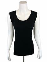 Isaac Mizrahi Women's Pullover Essentials Scoop Neck Tank Top Black Large Size