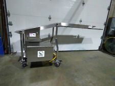 Stainless Steel Wire Mesh Incline Conveyor 8 X 86 Variable Speed Portable