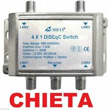 HEAVY DUTY CHIETA DISEqC MULTI-SWITCH 4X1 SATELLITE FTA LNB FREE TO AIR WSD-2041