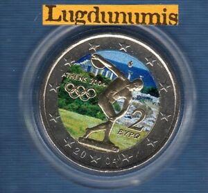 2 euro Commémo Couleur Color Grèce 2004 Jeux Olympique Athènes SUP SPL 2004