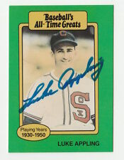 1987 HYGRADE LUKE APPLING SIGNED BASEBALL'S ALL TIME GREATS AUTOGRAPH CARD JSA