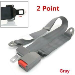 Gray 2Point High Quality Universal Adjustable Car Seat Safety Belt Car Seatbelt
