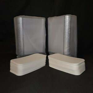 Aluminium No6a Foil Containers with Heavy Duty Lids x100