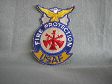 U.S. AIR FORCE PATCH -  USAF FIRE PROTECTION ASSISTANT FIRE CHIEF