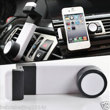 360 Rotate Car Air Vent Phone Bracket White Clip Case Holder Mount for iPhone 6