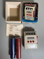 1971 Chuck A Luck Electronic Cordless With Poker Chips - Great Vintage Gift 🎁