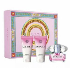 Versace BRIGHT CRYSTAL 3 Pieces Eau de Toilette Women Gift Set
