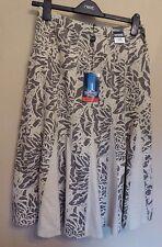 Maine New England UK10 EU38 US6 new stone/brown linen-blend skirt