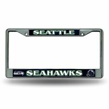 Seattle Seahawks Authentic Metal Chrome License Plate Frame Auto Truck Car NWT